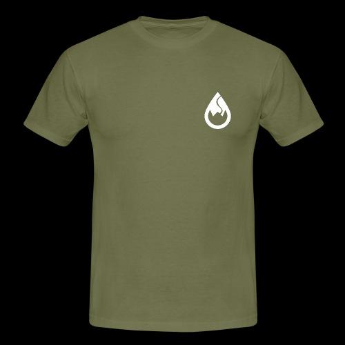 WS-Crew Tropfen-Logo weiß - Männer T-Shirt