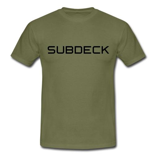 SUBDECK Logo Plain 01 - Männer T-Shirt