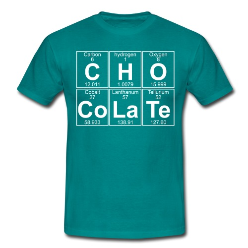 C-H-O-Co-La-Te (chocolate) - Full - Men's T-Shirt