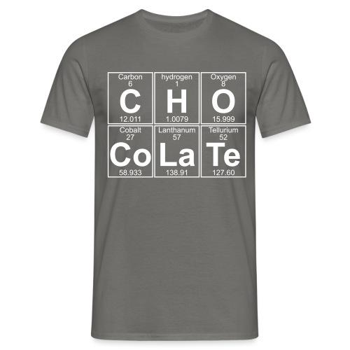 C-H-O-Co-La-Te (chocolate) - Full - Men's T-Shirt