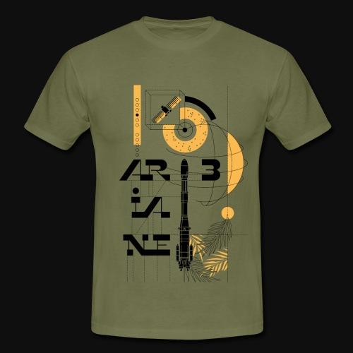 ARIANE 3 - technical drawing - Men's T-Shirt