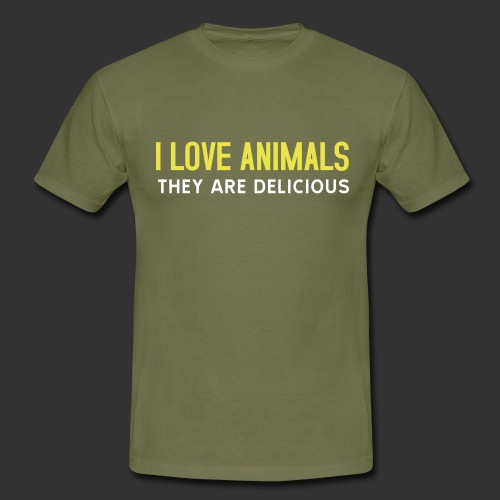 I love animals - T-shirt herr
