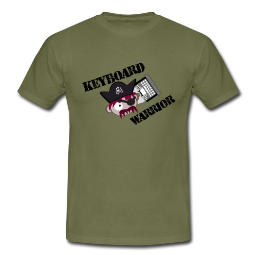 A Real Keyboard Warrior - T-shirt herr