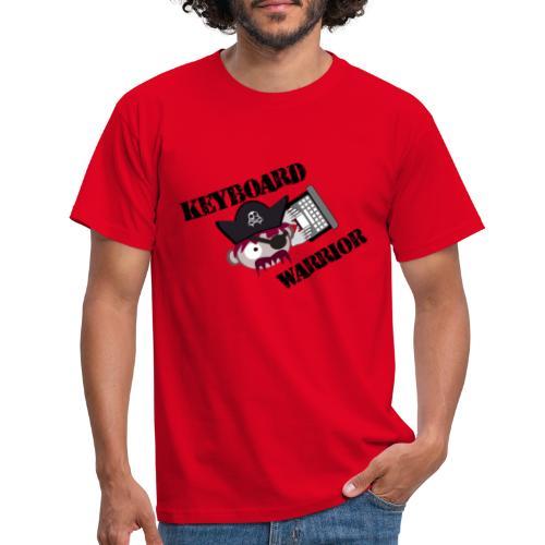 A Real Keyboard Warrior - T-shirt herr