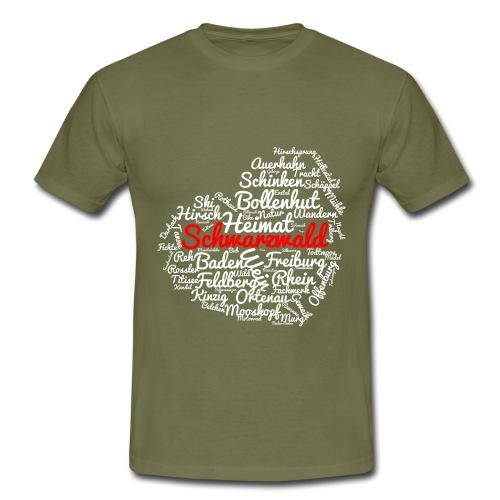 Schwarzwald Herz - Männer T-Shirt