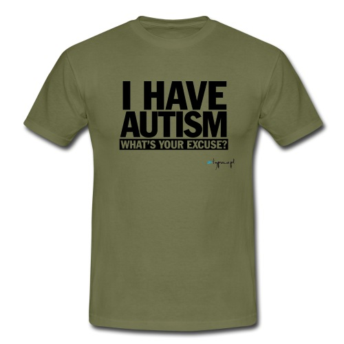I have autism... (black) - Koszulka męska
