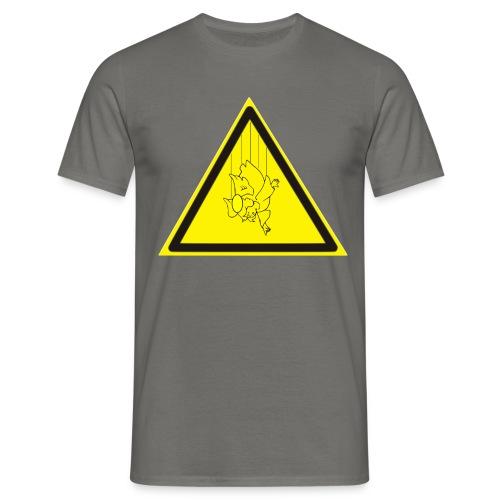 pericolo-caduta-santi - Maglietta da uomo