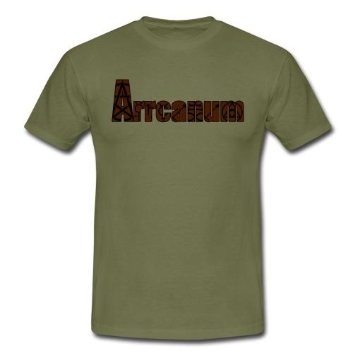 Arrcanum Logo Schrift gra - Männer T-Shirt