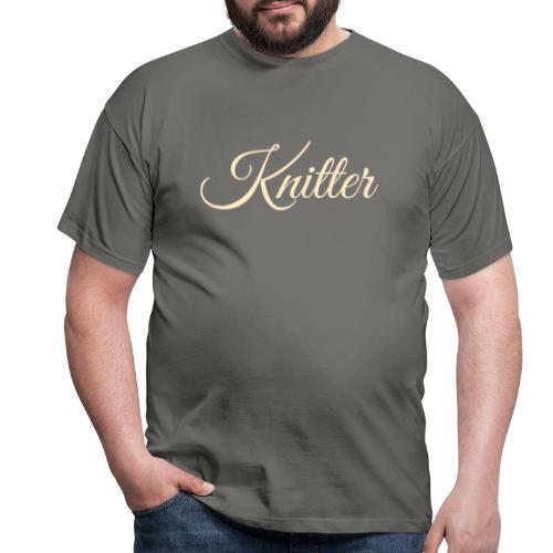 Knitter, tan - Men's T-Shirt