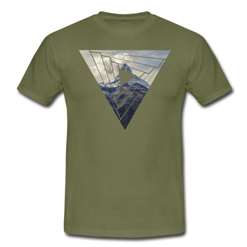 Matterhorn Zermatt Dreieck Design - Männer T-Shirt