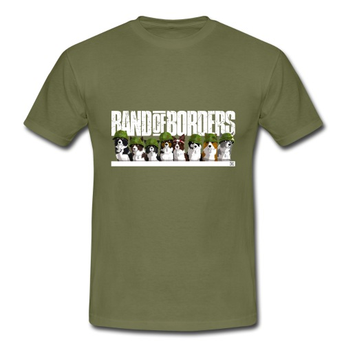 Band Of Borders (White) - Men's T-Shirt