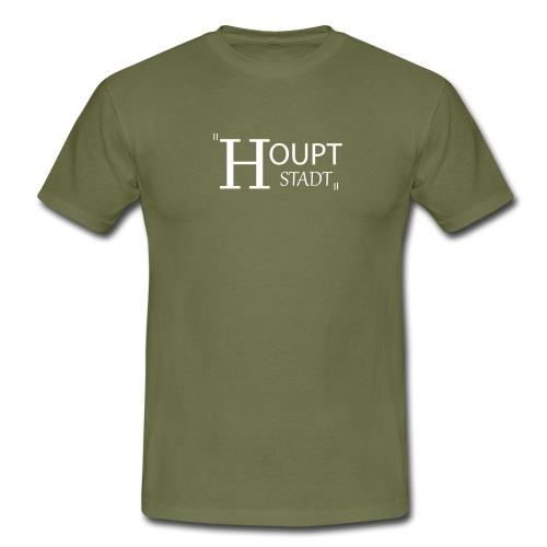 houptstadt logo ps weiss - Männer T-Shirt
