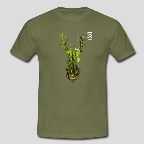 Eifel-Hirsch - weiß - Männer T-Shirt