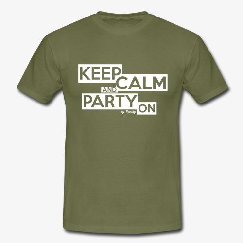 Blijf kalm - Mannen T-shirt