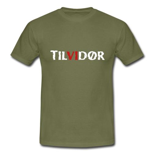 TILVIDØR LOGO - Herre-T-shirt