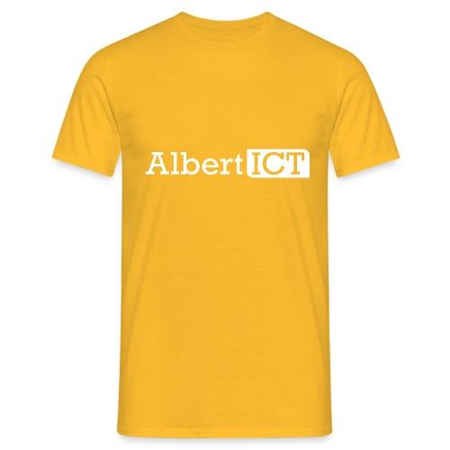 AlbertICT wit logo - Mannen T-shirt