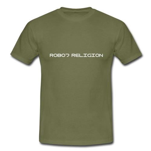 Robot Religion Text - Men's T-Shirt