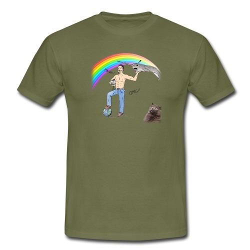 Guillaume le week-end (avec un chat) - T-shirt Homme