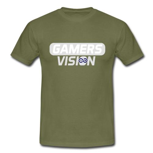 GamersVisionlogo Grijs - Mannen T-shirt