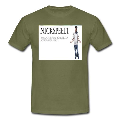 NickSpeelt merchandise - Mannen T-shirt