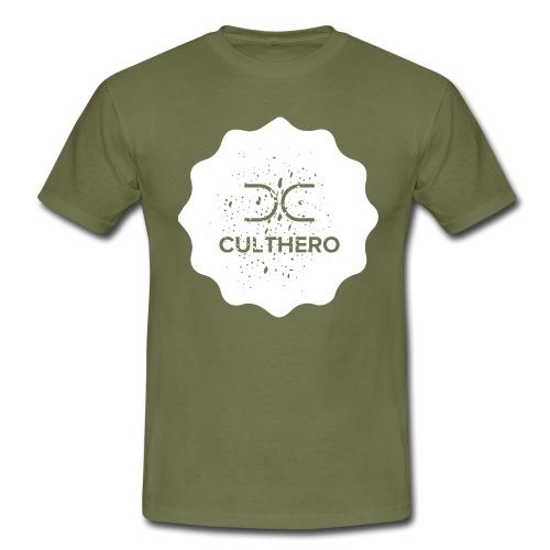 Cult Hero- Hero Gear White Logo Collection - Men's T-Shirt