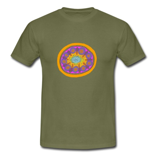 Mandala Pizza - Men's T-Shirt