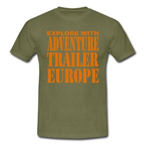 ADVENTURE TRAILER EUROPE - Mannen T-shirt
