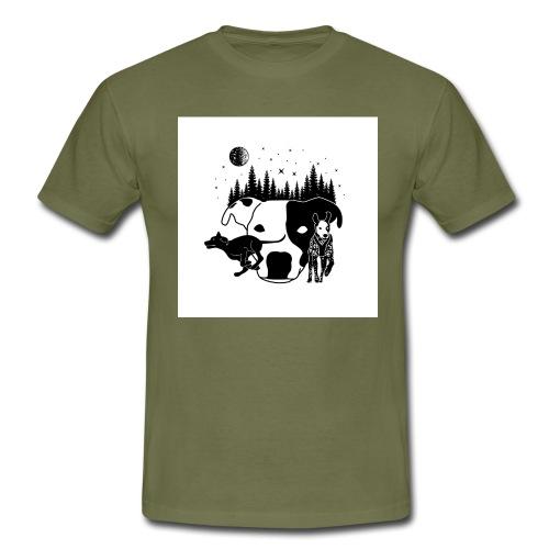DogExploreEurope - Maglietta da uomo