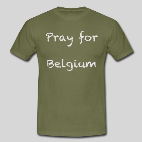 Pray for Belgium - T-shirt Homme