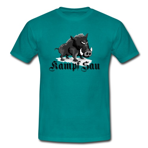 Kampfsau - Männer T-Shirt