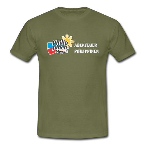 Philippinen-Blog Logo deutsch schwarz/weiss - Männer T-Shirt