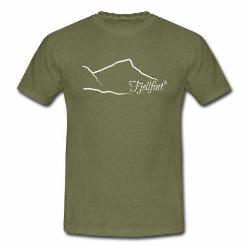 Hvit rektangulær logo - T-skjorte for menn