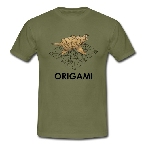 Origami Alligator Snapping Turtle - T-shirt Homme