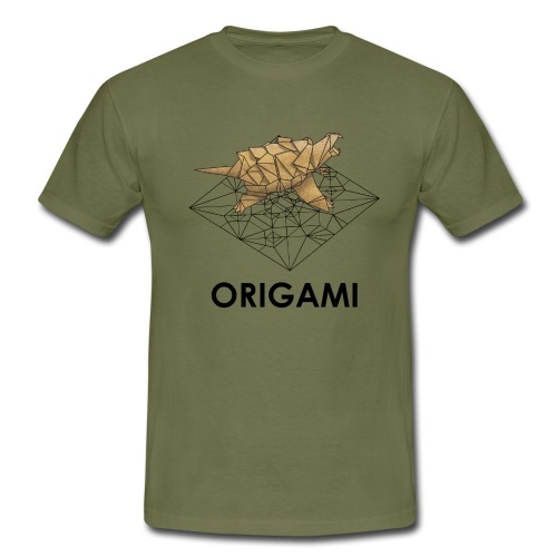 Origami Alligator Snapping Turtle - Men's T-Shirt