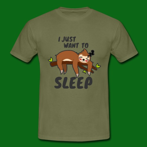I JUST WANT TO SLEEP - Snooze.life - Männer T-Shirt