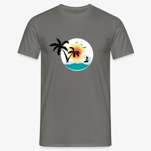 Surfing in paradise - Männer T-Shirt