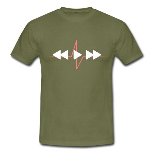 Live with music - Männer T-Shirt