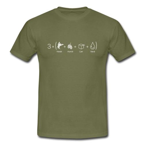 3 øl (helt nyt og simpelt logo) - Herre-T-shirt