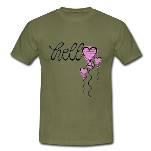 Hello Herzballon - Männer T-Shirt