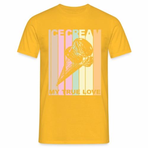 Ice Cream T-shirt Design im Vintage Look - Männer T-Shirt