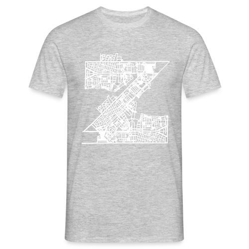Zuilen lijn net wit - Mannen T-shirt
