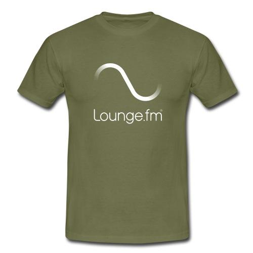 loungefm logo weiss - Männer T-Shirt