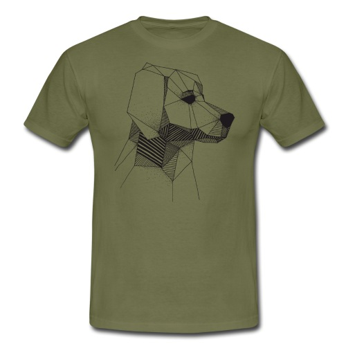 Golden Retriever Geometrisch Zwart - Mannen T-shirt
