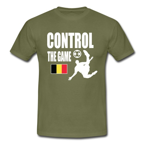 Control The Game Belgium - Mannen T-shirt