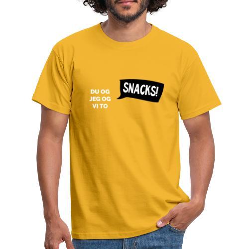 Du-og-jeg-og-vi-to SNACKS - T-skjorte for menn