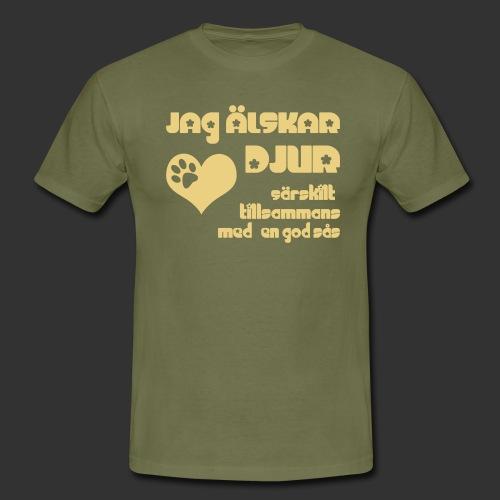 Jag älskar djur - T-shirt herr