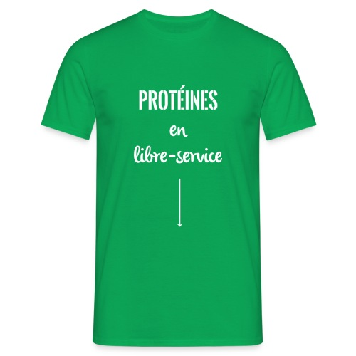 proteines libre service - T-shirt Homme