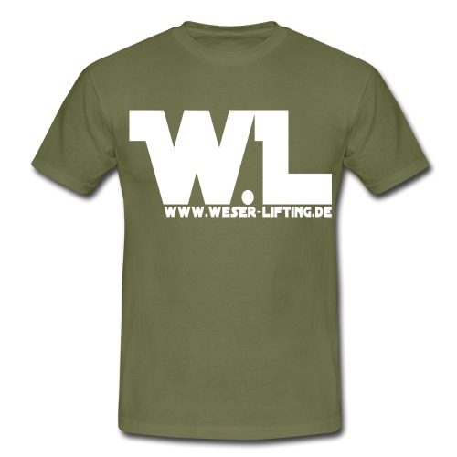 WL - vorn - weis - Männer T-Shirt