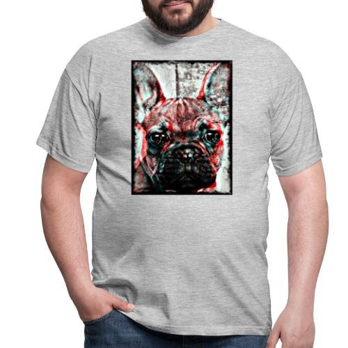 French Bulldog - Retro - T-shirt herr