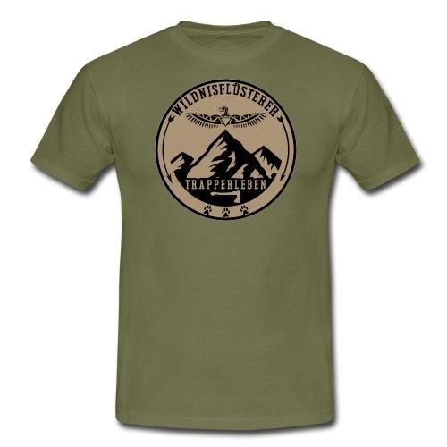 Wildnisfluesterer Trapperleben Motiv - Männer T-Shirt
